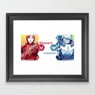 Mass Effect : Shep & Gar… Framed Art Print