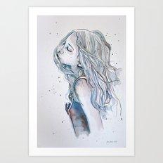 Breeze (variant II), watercolor painting Art Print
