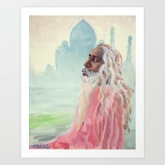 A Peaceful Glance Art Print