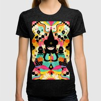 Magical Friends Womens Fitted Tee Tri-Black SMALL