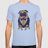 Henry the Pug Mens Fitted Tee Athletic Blue SMALL