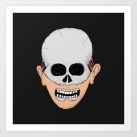 Beardy Skull Art Print
