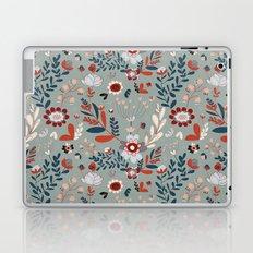 Deep Indigos & Gray Garden Hearts Laptop & iPad Skin