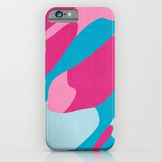 pink and blue camo abstract Slim Case iPhone 6s
