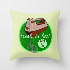 Foodie Mix it up Throw Pillow