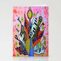 FEATHERED FANFARE Stationery Cards