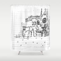 Childhood Drawings (Cathedral) Shower Curtain