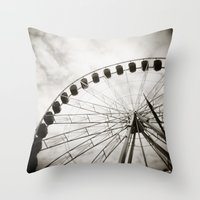 { ferris day out } Throw Pillow