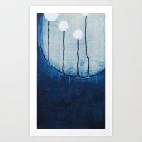 Dandelions On The Moon Art Print