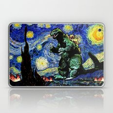 Godzilla versus Starry Night Laptop & iPad Skin