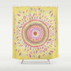 Yellow Sunflower Mandala Shower Curtain