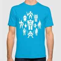 Plastic Heroes Mens Fitted Tee Teal SMALL