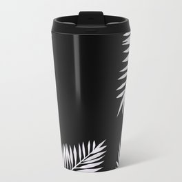 Travel Mug - Watercolor tropical palm leaves black - LaVieClaire