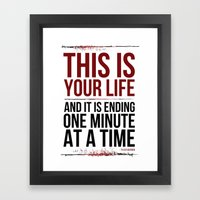 Fight Club - This Is You… Framed Art Print