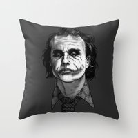 Now I'm Always Smiling // The Dark Knight Throw Pillow