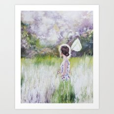 Summer walk Art Print