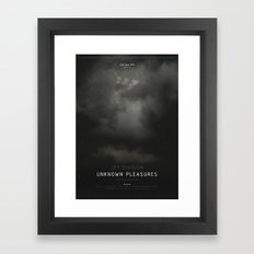 Joy Division - Unknown Pleasures (FACT 10) Framed Art Print