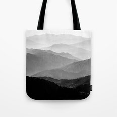 Mountain Mist - Black An… Tote Bag
