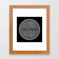 TMNT SEWERS Framed Art Print