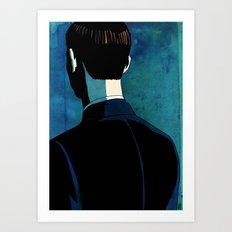 Reverse Portrait Art Print