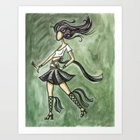 Rock Starlette Art Print