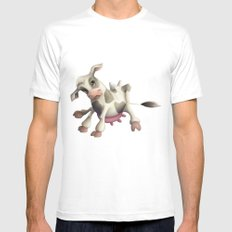 Little cow Mens Fitted Tee White SMALL