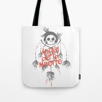 Angel De La Muerte - RED Tote Bag