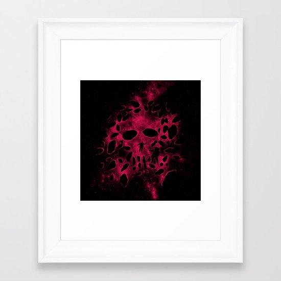 Death on Deep Space Framed Art Print