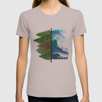 Tree And Surf Womens Fitted Tee Cinder SMALL