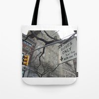 Lights And Signs Tote Bag