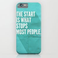 iPhone & iPod Case featuring The Start by Zeke Tucker
