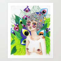 She Sees In All Directions Art Print