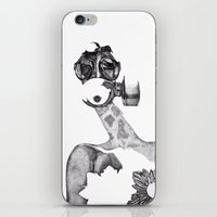 Anabelle (B&W) iPhone & iPod Skin