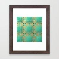 Elegance-Turquoise Teal Framed Art Print