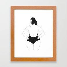 La Nageuse Framed Art Print