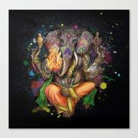 Colorful Ganesh Canvas Print