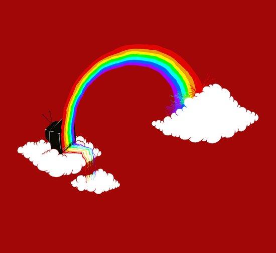 Rainbow TV Canvas Print