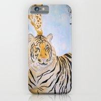 Giraffe Kissing Tiger iPhone 6 Slim Case