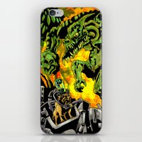 Doktor Steampug Versus Gorillizard! iPhone & iPod Skin