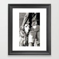 B&W Beach Scene 5 Framed Art Print