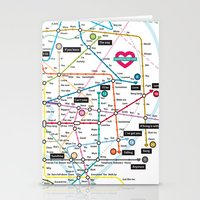 Love Map Stationery Cards