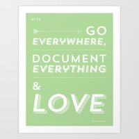 Travel. Write. Love. Art Print