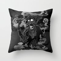 Deathly Bear Throw Pillow
