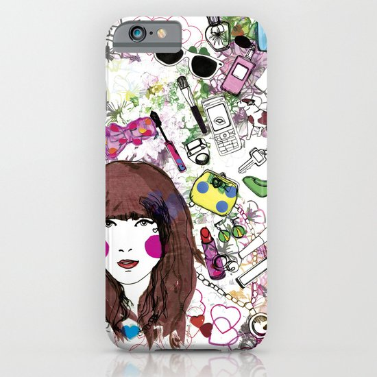 Floral Girl iPhone & iPod Case