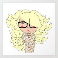 Mss Blondie Art Print