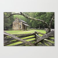 Oliver's Cabin in the Great Smokey Mountains Canvas Print
