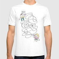 Long Distance Call Mens Fitted Tee White SMALL