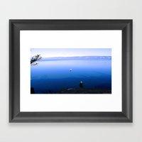 Lonely Ship Framed Art Print