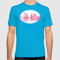 Pink Winter Mens Fitted Tee Teal SMALL