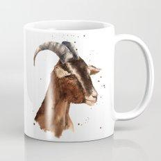 Goat, billy goat, goat painting, goat print, cute animal art, watercolor animals, animal paintings Mug